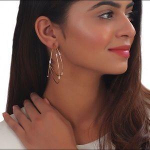 🆕BHLDN handmade Saskia Gold Hoop Earrings HTF